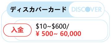 Discoverカードでの入金方法!!-0